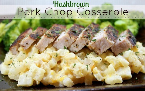 Hashbrown Pork Chop Casserole