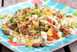 Cafe Rio Copycat Shredded Pork Salad