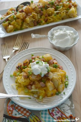 Cheesy Country Potatoes with Ham