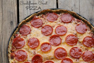 Extreme Couponer's Cauliflower Pizza Crust