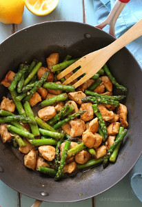 Lovely Chicken And Asparagus Lemon Stir Fry