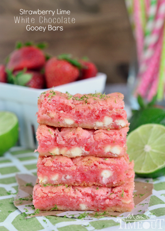 Strawberry Lime Gooey Bars from Mom On Timeout