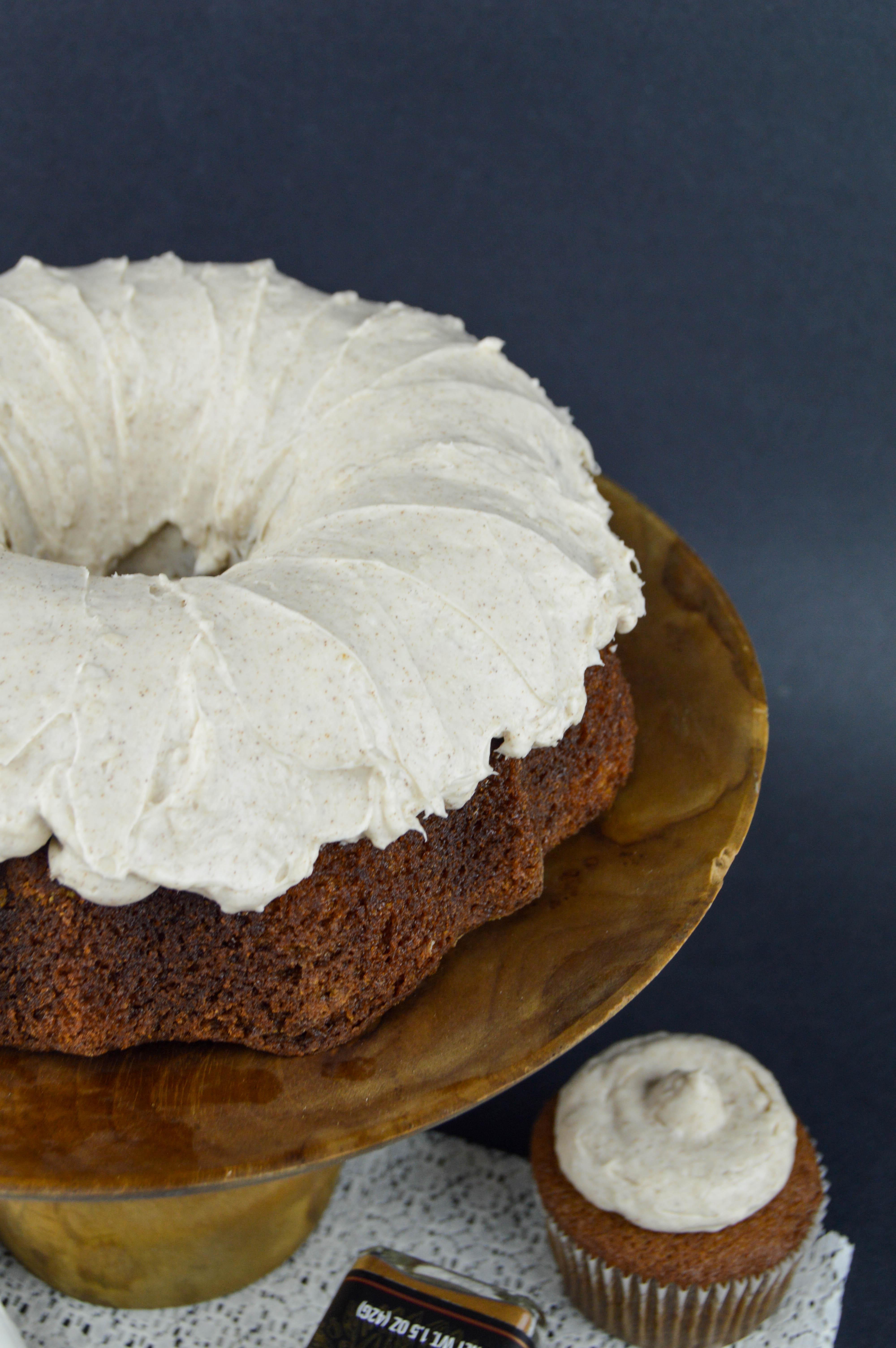 Gingerbread Bundt Cake Recipe With Cinnamon Cream Cheese