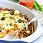 Healthy 4 Ingredient Enchilada Casserole 8