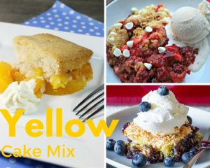 Cobbler With Yellow Cake Mix Amp