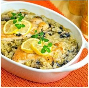 Lemon-Chicken-Oreganata-Casserole