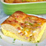 Ham Egg and Cheese Crescent Roll Casserole