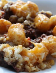 Slow Cooker Beef and Tater Tot Casserole