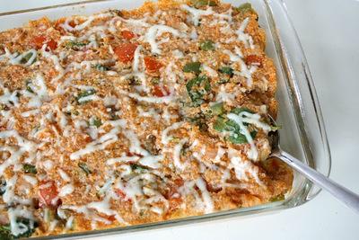Veggie Supreme Pizza Quinoa Casserole
