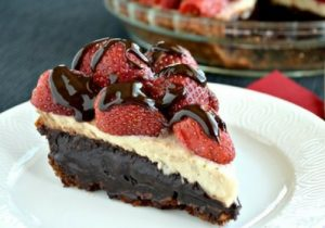 Banana Split Brownie Pie