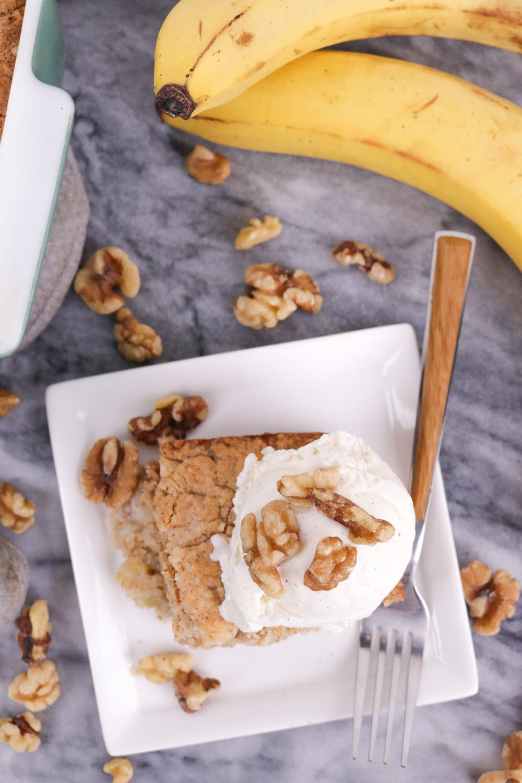 how to make banana bread cake