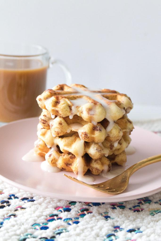 Cinnamon Roll Waffles