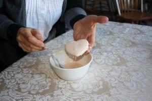 sour cream cookie, valentine's day cookie