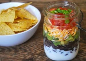 Layered Bean Dip in a Jar