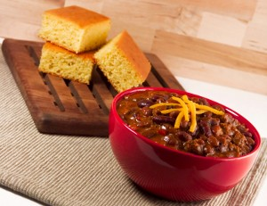 Slow Cooker Chili and Amish Cornbread