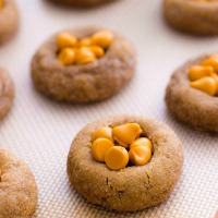 Soft Gingersnap Cookies with Butterscotch Chips