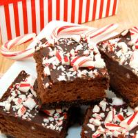 Chocolate Cheesecake Candy Cane Bars