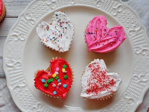 Be Mine Heart Cupcakes
