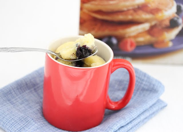 Blueberry Bisquick Mug Cake