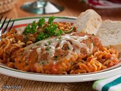 Stovetop Chicken Noodle Parmigiana
