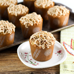 Pineapple Coconut Caramel Muffins