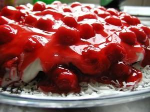 Red and Wild Cherry Torte
