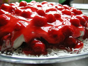 Red and Wild Cherry Torte