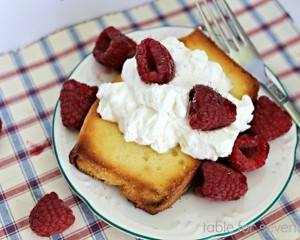 Grilled Berry Pound Cake