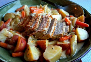 Creamy Garlic Pot Roast
