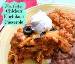 Slow Cooker Chicken Enchilada Casserole