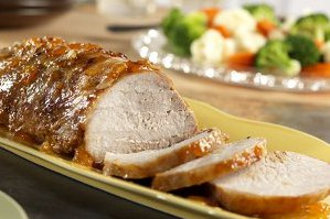 Lazy Apricot Glazed Pork Roast