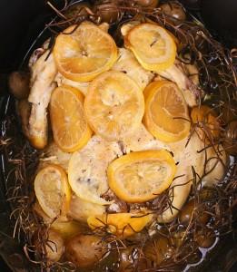 Slow Cooker Lemon, Garlic Chicken for Four