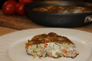 Artichoke and Steak Frittata