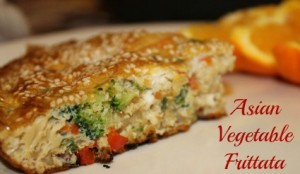 Asian Vegetable and Rice Frittata