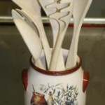 Bamboo Studio Utensil Holder and Spoons