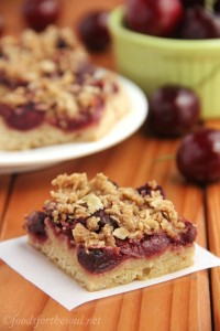 Foods for the Soul Cherry Crumble Bars