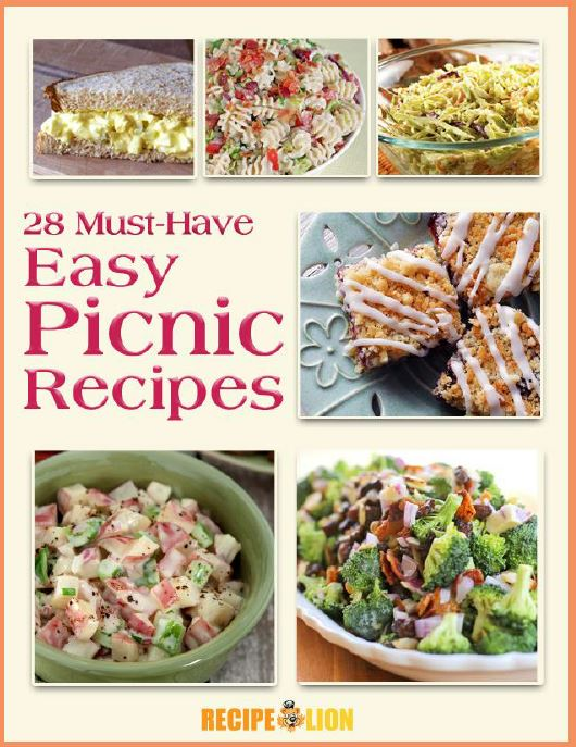 28 Must-Have Easy Picnic Recipes eCookbook