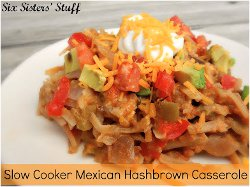 Slow Cooker Mexican Hash Brown Casserole