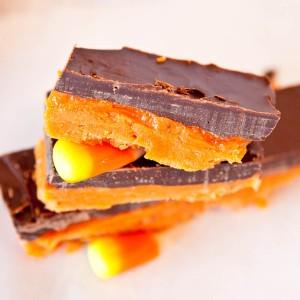 Candy Corn Butterfinger Bars