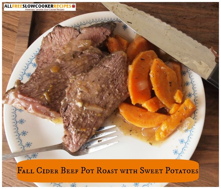 Fall Cider Beef Pot Roast with Sweet Potatoes