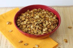 Warm Roasted Pumpkin Seeds