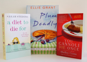 A Diet To Die For, You Cannoli Die Once, and Plum Deadly from Simon & Schuster