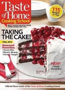 taste of home cooking school fall 2013