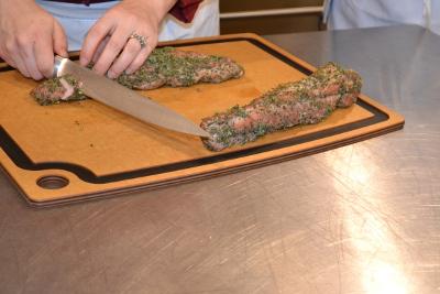 Slicing Pork