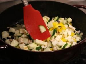 Add Zucchini, Eggplant, Bell Pepper