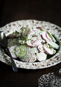 Russian Cucumber and Radish Salad