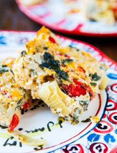 Spinach-Artichoke-and-Red-Pepper-Cheesy-Squares