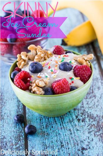 Skinny Ice Cream Sundae