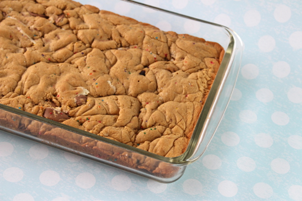 Chocolate Surprise Cookie Bars