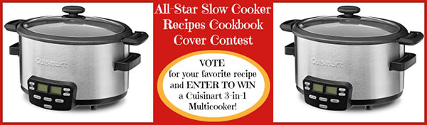 All-Star Slow Cooker Recipes Cookbook Cover Contest